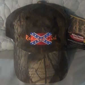 Camo hat redneck girl embroidered on front